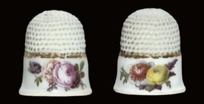 A Meissen porcelain thimble