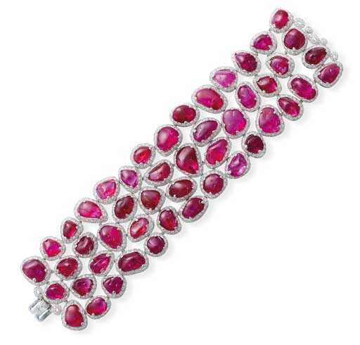 A Ruby And Diamond Bracelet By Michele Della Valle Christie S