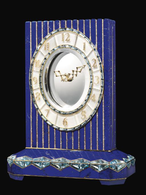A FINE LAPIS LAZULI, DIAMOND A