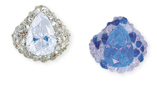 A COLOURED DIAMOND AND DIAMOND RING, BY MICHAEL YOUSSOUFIAN