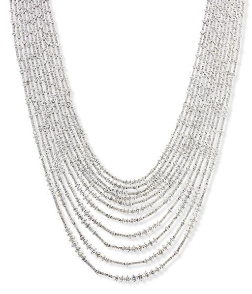 A DIAMOND MULTI-STRAND NECKLAC