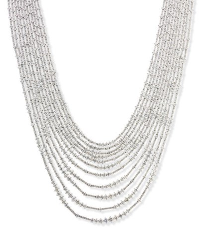 A DIAMOND MULTI-STRAND NECKLAC