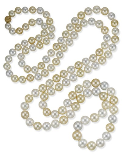 A SOUTH SEA CULTURED PEARL ROP