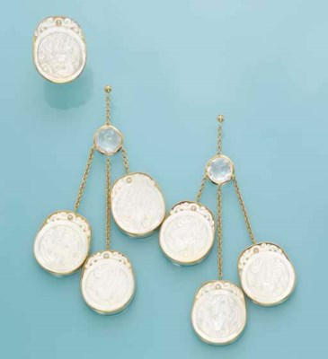 A MOTHER OF PEARL SET, BY ALEX