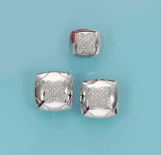 AN 18K WHITE GOLD AND DIAMOND SET, BY BULGARI