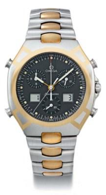 Omega. A titanium and gold ton