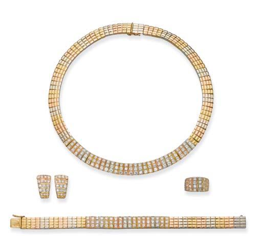 A DIAMOND AND MULTI-COLOURED 1