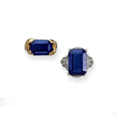A SAPPHIRE SINGLE-STONE RING A