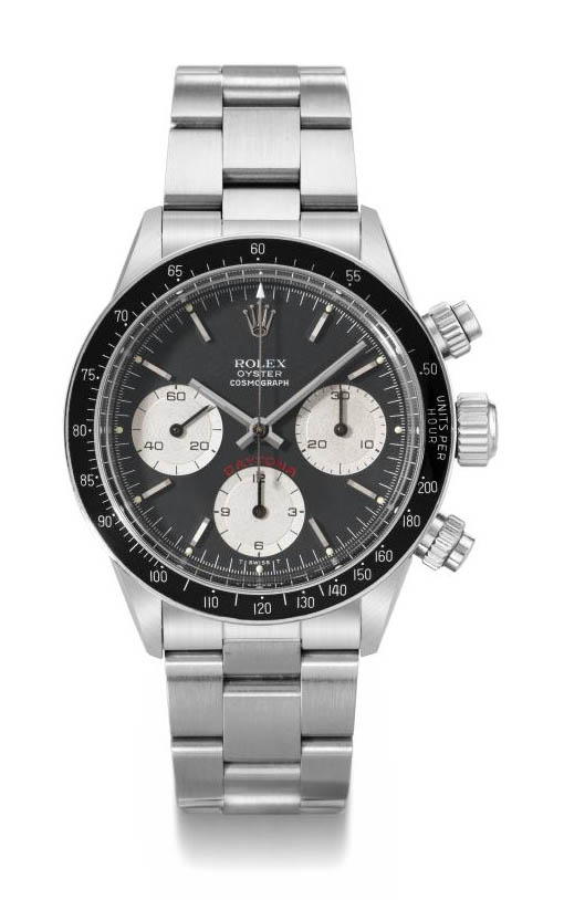 Rolex. A stainless steel water-resistant chronograph wristwatch with bracelet