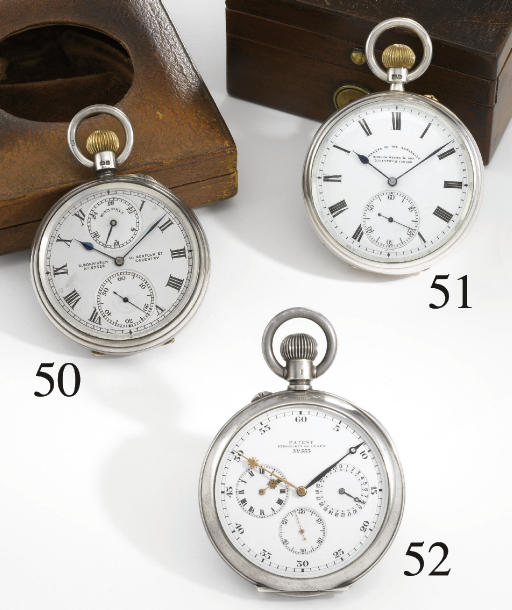 Strömgren and Olsen. A highly unusual silver openface keyless lever observation watch timed for sidereal and mean time