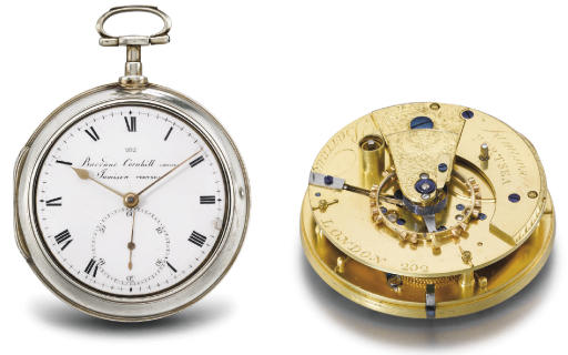 Barraud & Jamison. An early silver pair case openface pocket chronometer with Arnold's detent escapement
