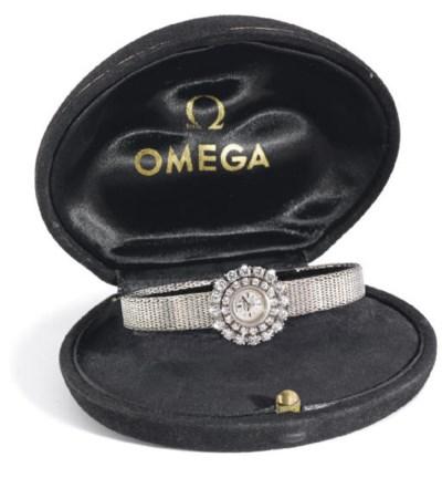 Omega. An 18K white gold & dia