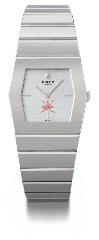 Rolex. An unusual 18K white go
