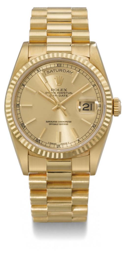 Rolex. An 18K gold water-resis