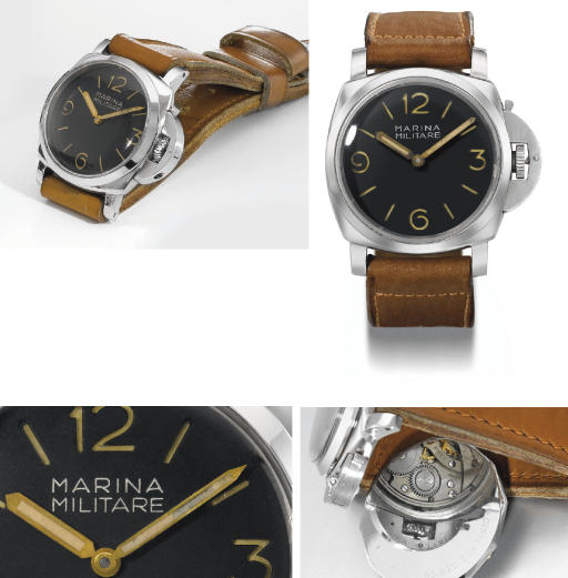 Rolex made for Panerai. An extremely rare and large stainless steel water-resistant diver's wristwatch
