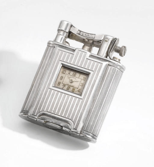 Dunhill. A silver lighter watch