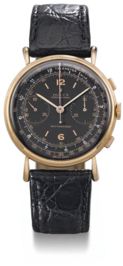 Rolex. An 18K pink gold chrono