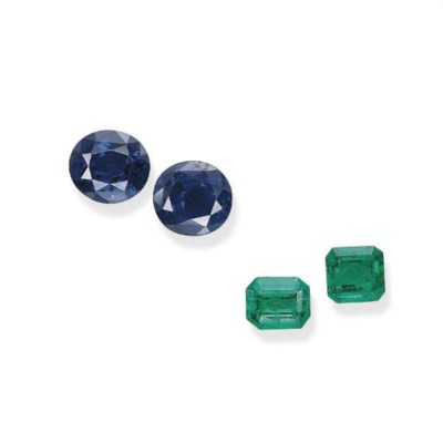 A GROUP OF UNMOUNTED SAPPHIRES