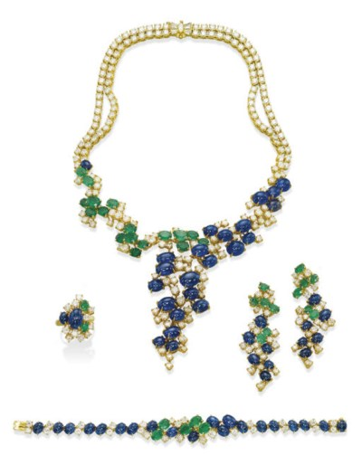 A SUITE OF SAPPHIRE, EMERALD A