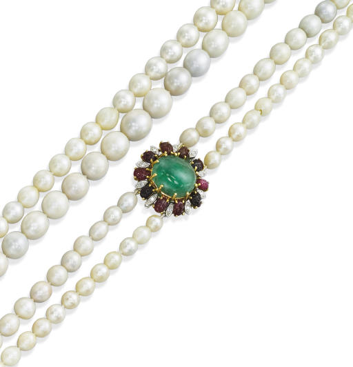 A CULTURED AND NATURAL PEARL A