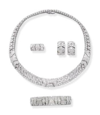 A DIAMOND 'RIVOLI' SUITE, BY C