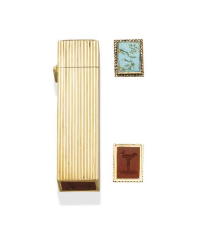 AN ANTIQUE INTAGLIO, GOLD AND