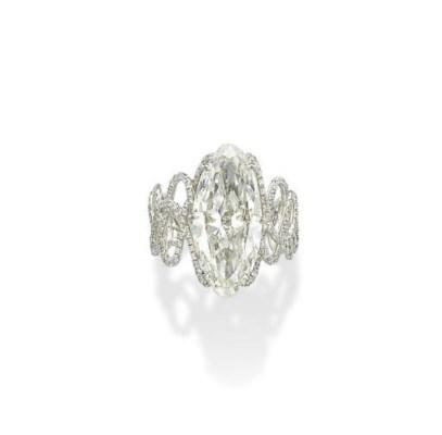 A DIAMOND 'BIORYTHM' RING, BY