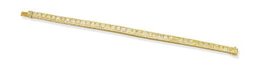 A COLOURED DIAMOND LINE BRACEL