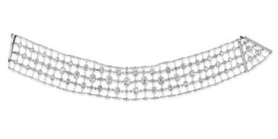 A FINE BELLE EPOQUE DIAMOND 'C