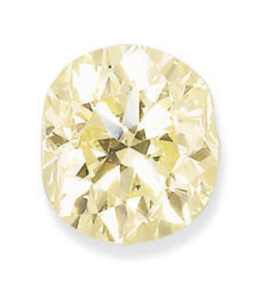 AN UNMOUNTED COLOURED DIAMOND