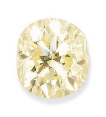 AN UNMOUNTED COLOURED DIAMOND