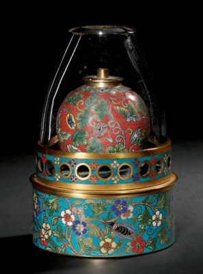 A LANTERN AND A PAIR OF CLOISO