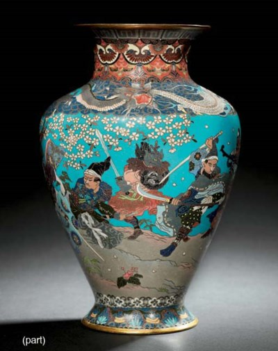 A GROUP OF CLOISONNÉ
