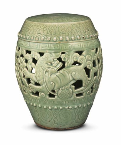 A CARVED AND PIERCED LONGQUAN