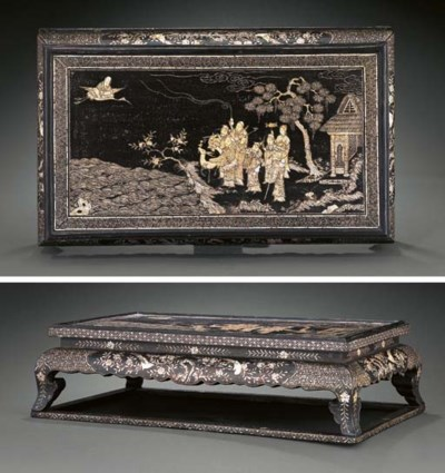 A MOTHER-OF-PEARL INLAID RECTA