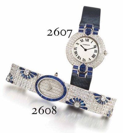 CHAUMET. A RARE LADY'S 18K WHI