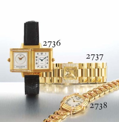 HERMES. A LADY'S 18K TWO-COLOU
