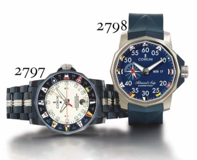 CORUM. A BLUED STEEL DODECAHED