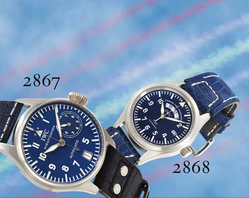 IWC. A RARE LIMITED EDITION OVERSIZED PLATINUM AUTOMATIC PILOT'S WRISTWATCH WITH CENTRE SECONDS, DATE AND SEVEN-DAY POWER RESERVE