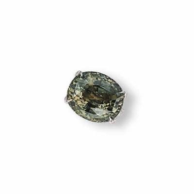 AN ALEXANDRITE AND DIAMOND RIN