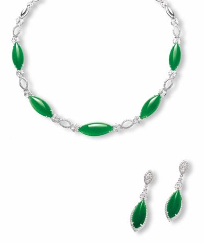 A JADEITE AND DIAMOND JEWELLER