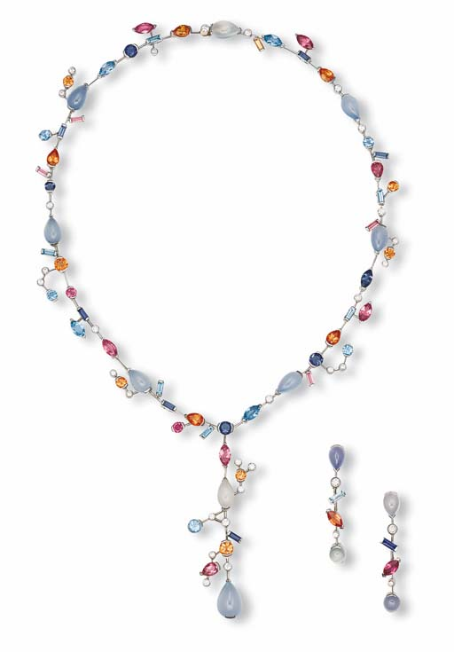 A SUITE OF MULTI-GEM AND DIAMOND 'MELI MELO' JEWELLERY, BY CARTIER