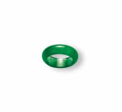 A JADEITE ABACUS SEED RING