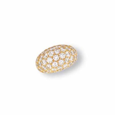 A 'BOULE DOMINO' DIAMOND RING,