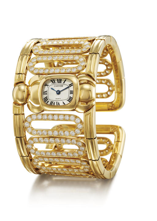 CARTIER. AN UNUSUAL LADY'S 18K