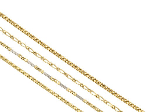 A GROUP OF FOUR 18K GOLD WATCH