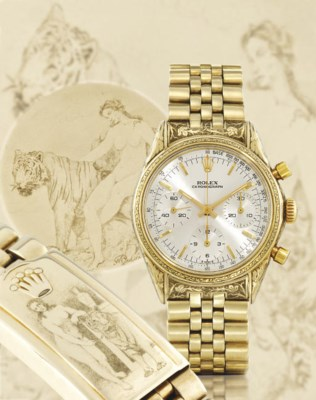 ROLEX. AN UNUSUAL AND RARE 14K