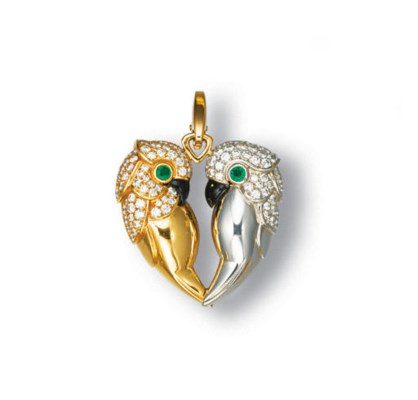 A DIAMOND, EMERALD AND ONYX BI