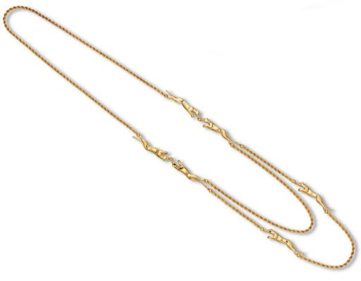 A 18K GOLD 'PANTHER' NECKLACE,