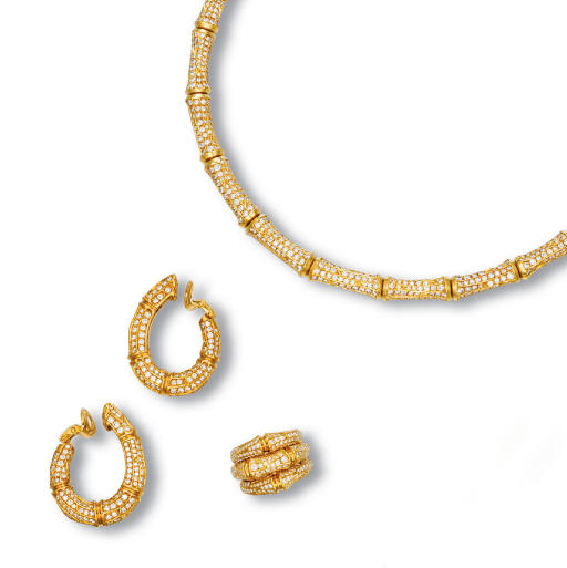 A SUITE OF DIAMOND AND 18K GOL